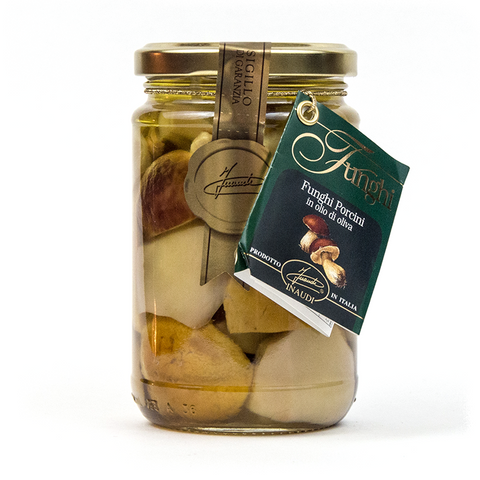 Sliced Finest Porcini Mushrooms in Olive Oil - Savors Of Europe - Inaudi - 1