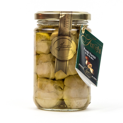 Whole Finest Porcini Mushrooms in Olive Oil - Savors Of Europe - Inaudi - 1
