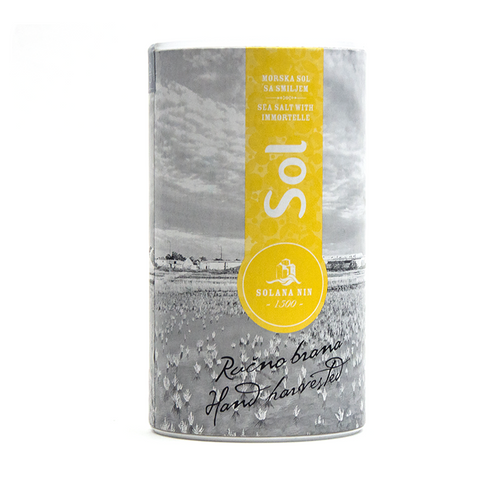 Aromatic Sea Salt with Immortelle Wildflower - Savors Of Europe - Solana Nin