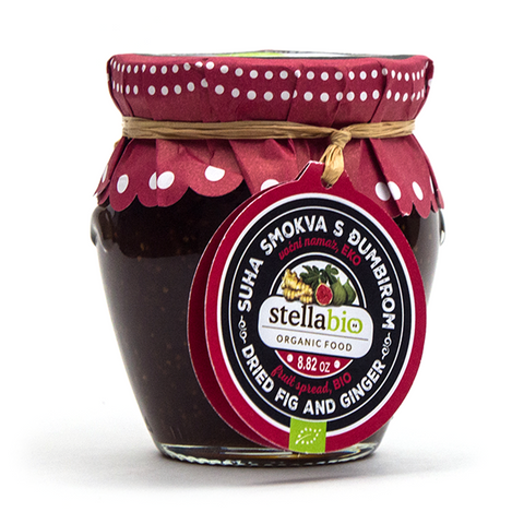 Fig and Ginger Organic Fruit Spread - Savors Of Europe - Stella Croatica