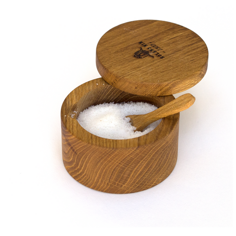 Artisan Wooden Salt Box with Spoon - Savors Of Europe - Solana Nin - 1