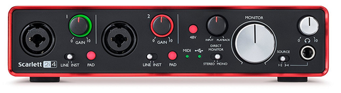 Focusrite Scarlett 2i4 2nd Generation Audio Interface Front