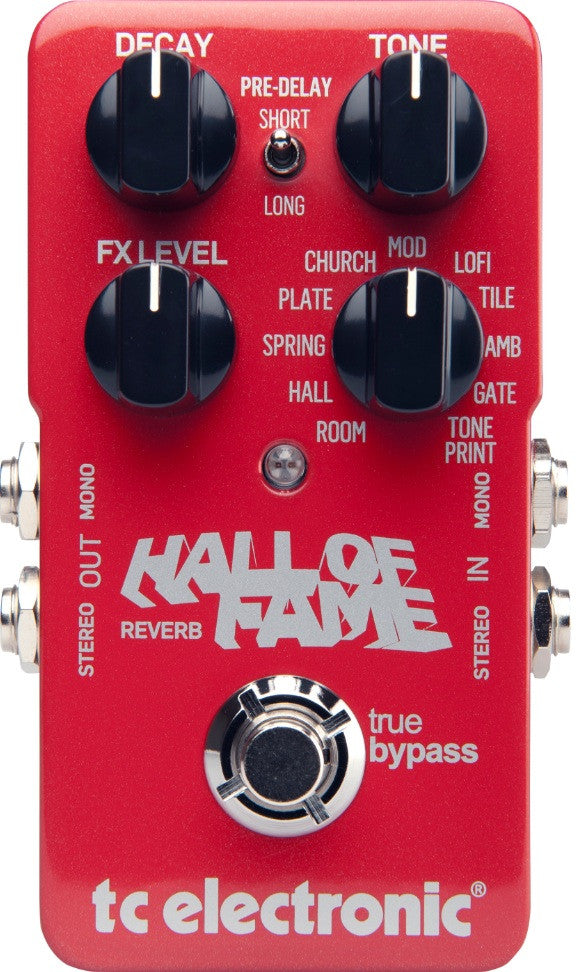 TC Electronic Hall Of Fame Reverb Guitar Effect Pedal with True Bypass Front