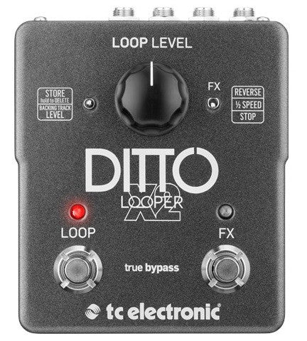 TC Electronics Ditto X2 looper guitar effect pedal Front