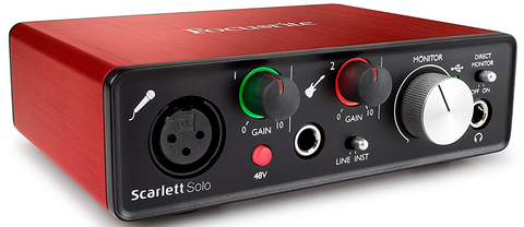 Focusrite Scarlett Solo 2nd Generation Usb Audio Interface Front