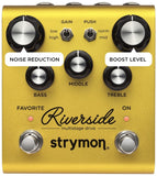 Strymon Riverside Overdrive Pedal Top with Additional Feature Tags