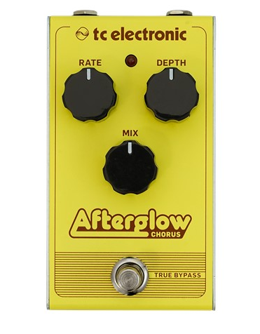 tc electronic afterglow chorus guitar effect pedal front