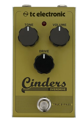 tc electronics cinders overdrive guitar effect pedal front