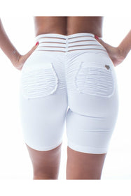 *winter White* (Active Cute Booty Biker) Shorts