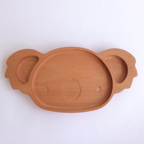 Red Wood Koala Dining Plate