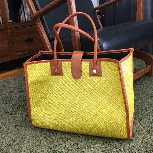 Handwoven Yellow Pandanus Bag