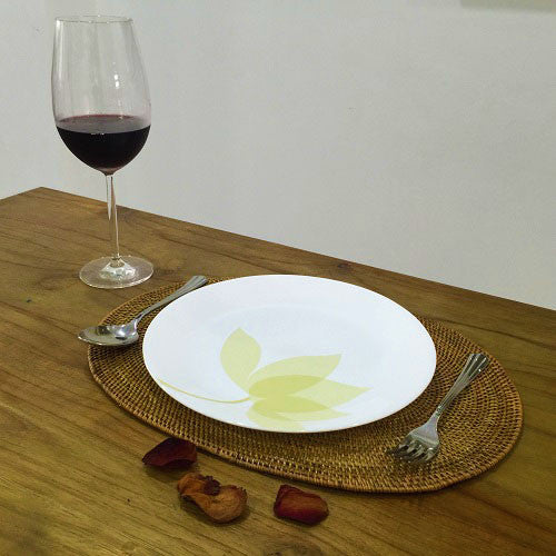 Handwoven Ata Reed Oval Placemat