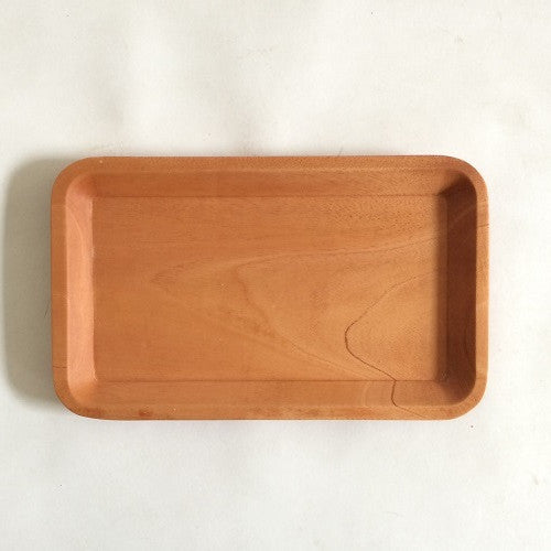 Red Wood Timeless Rectangular Plate