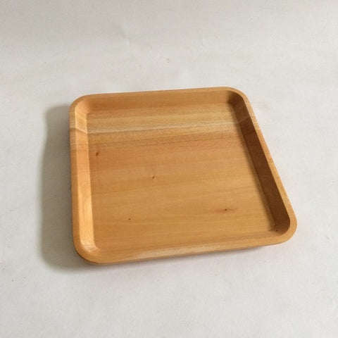 Red Wood Timeless Square Plate