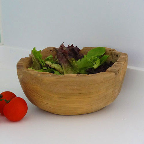 Handcrafted Teak Salad Bowl