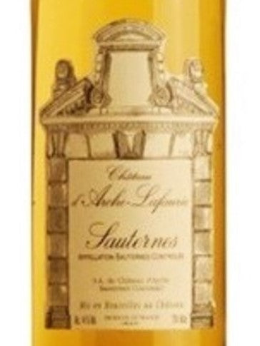 Chateau d'Arche Lafaurie, Sauternes Grand Cru 2005 (OWC), JR 17.5 375ml - Pinewood Wine
