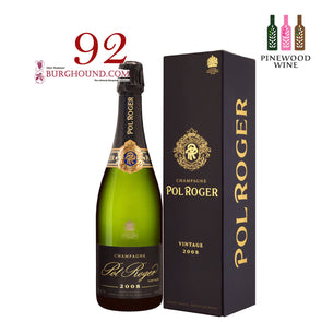 Pol Roger Brut Vintage 2008 (Gift Box) 750ml - Pinewood Wine