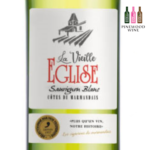 La Vieille Eglise Blanc, AOC Cotes du Marmandais, 2018, 750ml - Pinewood Wine