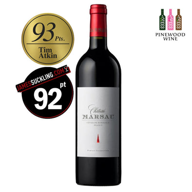 Chateau Marsau, Francs Cotes de Bordeaux, 2010, 750ml