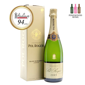 Pol Roger Brut Blanc de Blancs 2009 (Gift Box) 750ml - Pinewood Wine