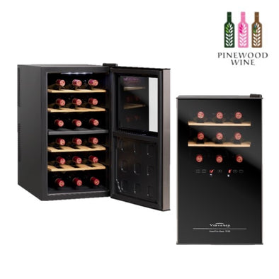 Vinvautz - Thermoelectric Dual Zone 18 Bottles - Pinewood Wine