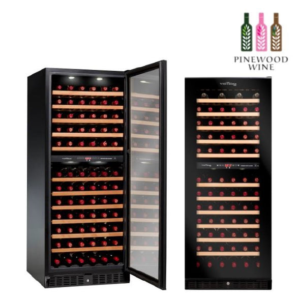 Vinvautz - Pro Black Dual Zone 101 Bottles - Pinewood Wine