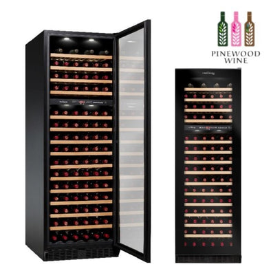 Vinvautz - Pro Black Dual Zone 125 Bottles - Pinewood Wine