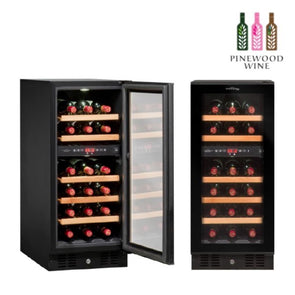 Vinvautz - Pro Black Dual Zone 28 Bottles - Pinewood Wine