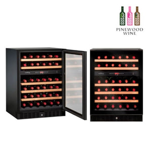 Vinvautz - Pro Black Dual Zone 45 Bottles - Pinewood Wine
