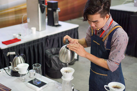Lucky Salvador Competing in the Singapore Brewers Cup 2016