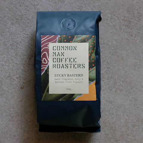 lucky basterd common man coffee roasters signature blend