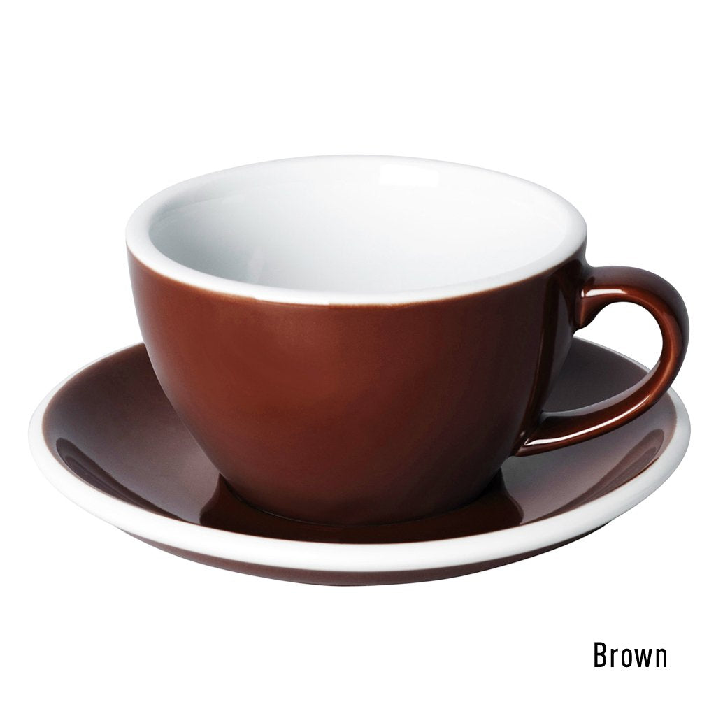 Egg 250ml Cappuccino Cup & Saucer Set