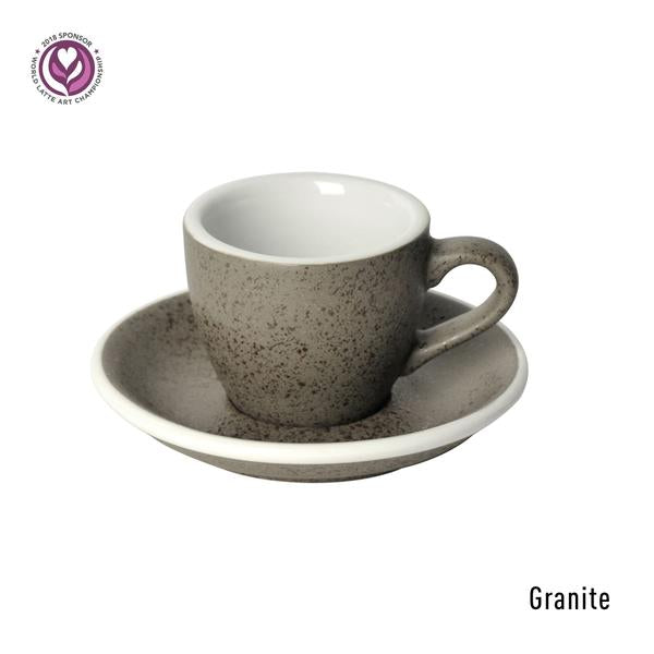 Egg 80ml Espresso Cup & Saucer Set (Potters Colours)