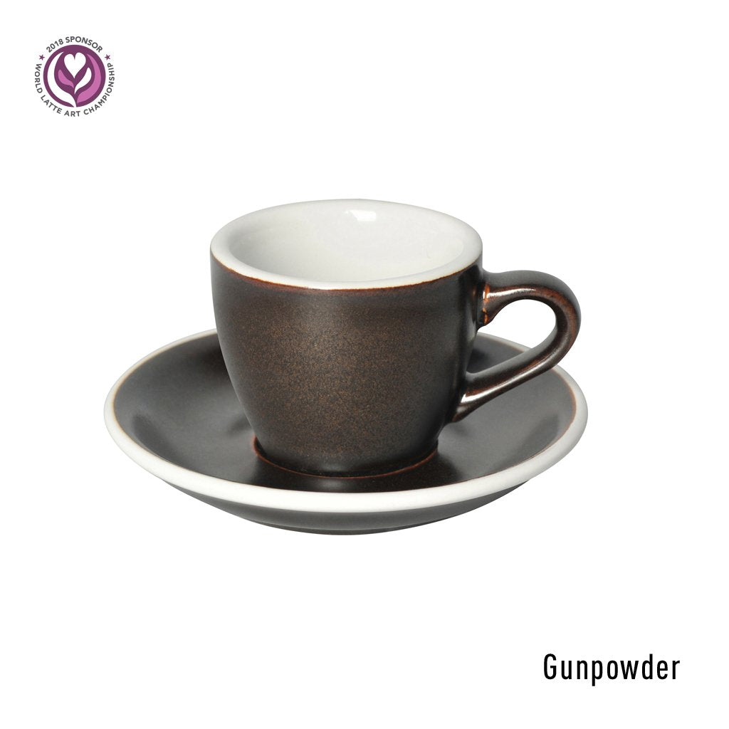3 Potters 80ml Espresso Cup & Saucer Set