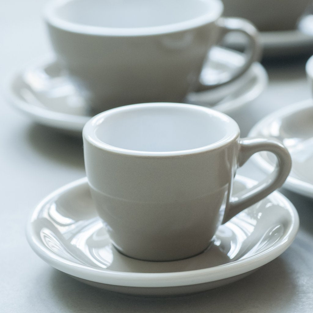 Egg 80ml Espresso Cup & Saucer Set
