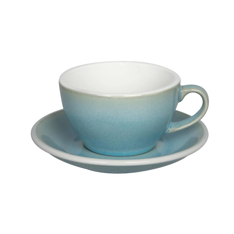 Egg 250ml Cappuccino Cup & Saucer Set (Potters Colours)