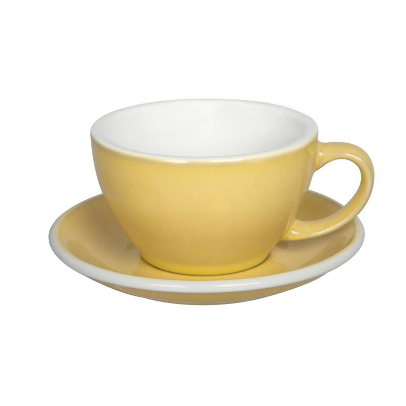 300ml Latte Cup & Saucer Set (Potters Colours)
