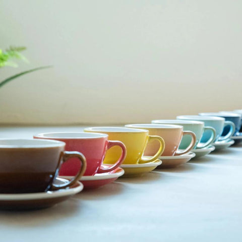 200ml Cappuccino Cup & Saucer Set (Potters Colours)