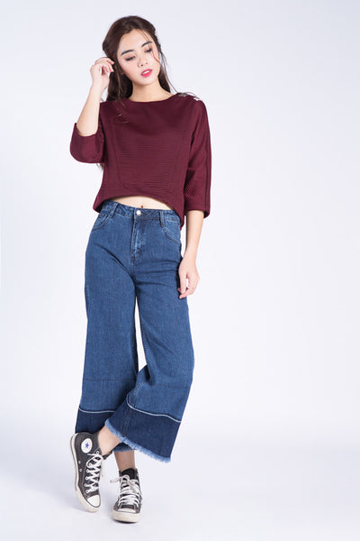 QUẦN JEANS ỐNG LOE <br /> MS 253763
