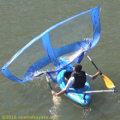 Blue Downwind Kayak Sail