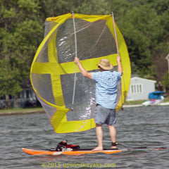 Yellow Universal Paddle Board Sail