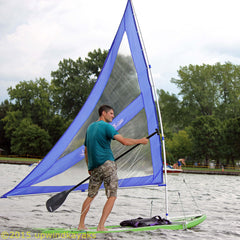 Blue Spirit Paddle Board Sail with telescoping Mast and Boom