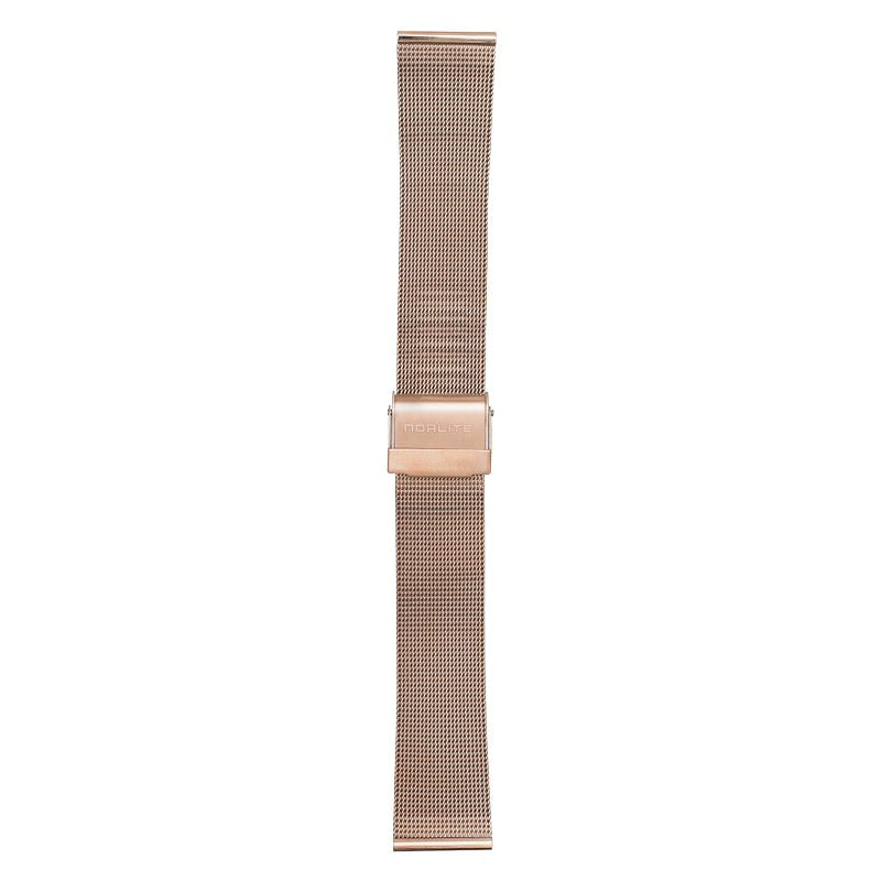 Rose gold mesh band, 20 mm with Norlite logo on clasp