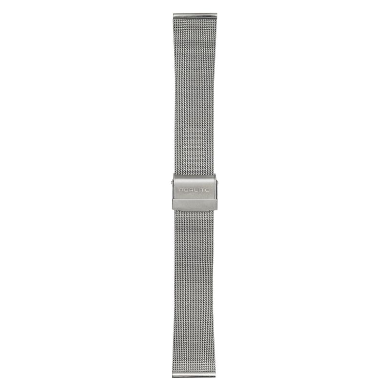 Steel mesh band, 20 mm with Norlite logo on clasp