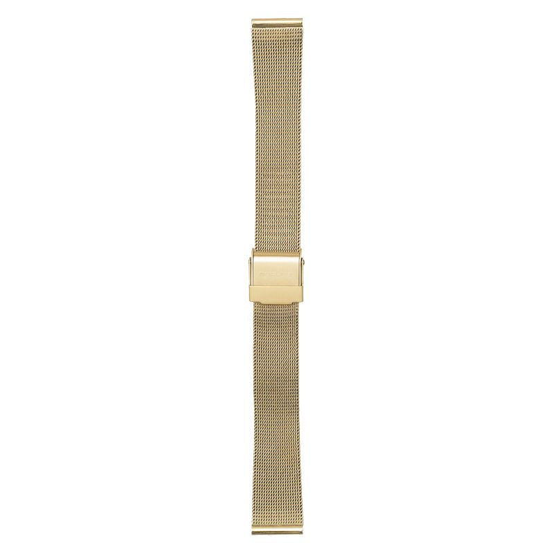 Gold mesh band, 16 mm with Norlite logo on clasp