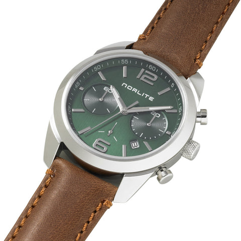 Racing green dial chronograph with sapphire crystal
