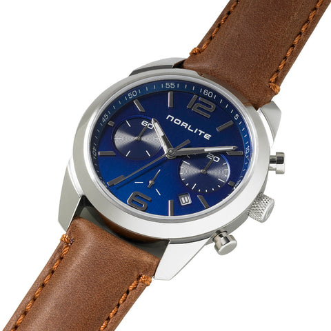 Blue dial chronograph with sapphire crystal