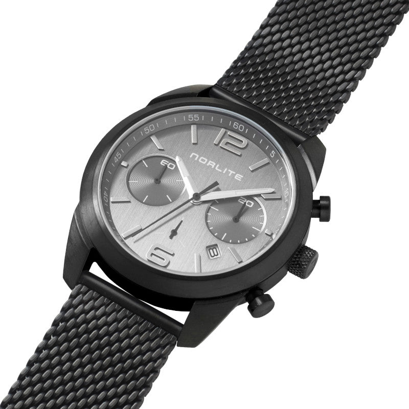All black men's chronograph with sapphire crystal