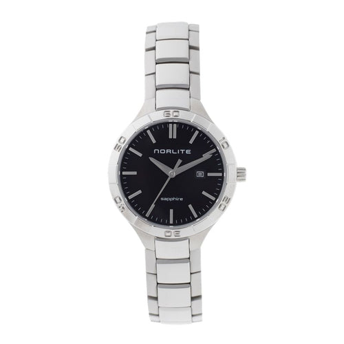 Elegant and stylish watch featuring a black dial