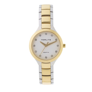 Two-tone women's watch with Swarovski crystals